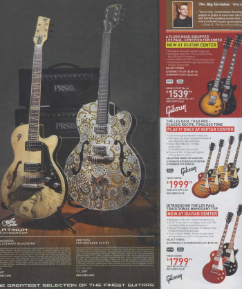 Platinum Galaxy - Custom Shop Gretsch featured in Guitar Center Catalog, May 2012